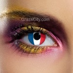 France Flag Contact Lenses