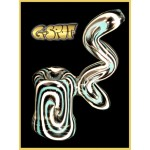 G-Spot Glass Hammer Bubbler Pipe - Light Blue, Black and White Swirl