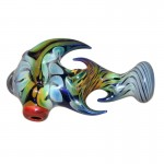 Glass Handpipe - Cobalt Glass with Appendages - Choice of 2 colors