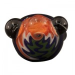 Glass Spoon Pipe by K.C. - Thick Glass with Reversal Cap - Black