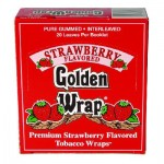 Golden Wrap Strawberry Flavored Blunt Papers - Wholesale Box