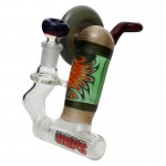 HOPS - Worked Inline Bubbler with Slide - Red Label