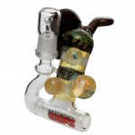 HOPS - Worked Inline Bubbler with Vapor Dome and Nail - Red Label