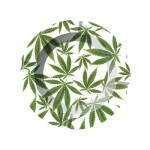 Metal Ashtray - Cannabis Leaves