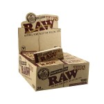 RAW Natural Hemp and Cotton Paper Filter Tips - Box of 50 Packs