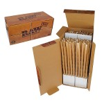 RAW Natural Pre-Rolled Hemp Paper Cones - Box of 800 Cones