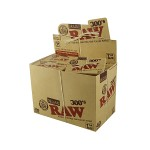 RAW Organic 300's - Regular Size Hemp Rolling Papers - Box of 40 Packs