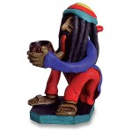 Sitting Rasta Man Brazil Pipe
